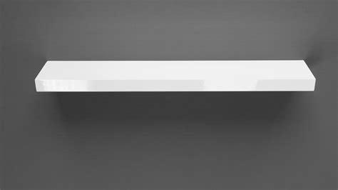 Gloss White Floating Shelf 800x150x38mm Mastershelf