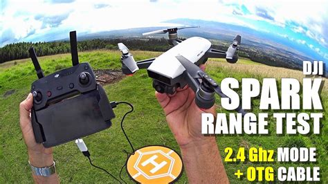 dji spark review part   depth range test  ghz mode  rc controller otg cable