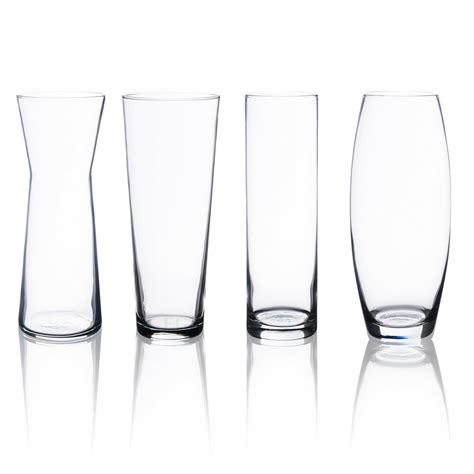 pasabahce 600ml clear glass fluted rounded shape