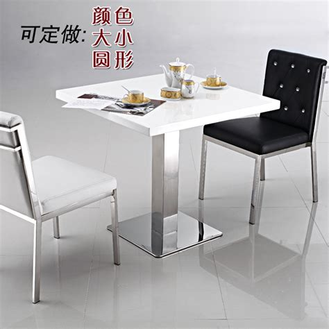 small white marble dining table simple negotiation table front desk stainless white marble