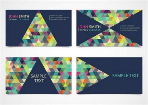 Modern Business Card With Triangle Vector Business Card Printing Istanbul Abbyy Reader Outlook Psd Mockups Change View Prague Wordpress Cards Letterhead Mockup Credit Options For Small