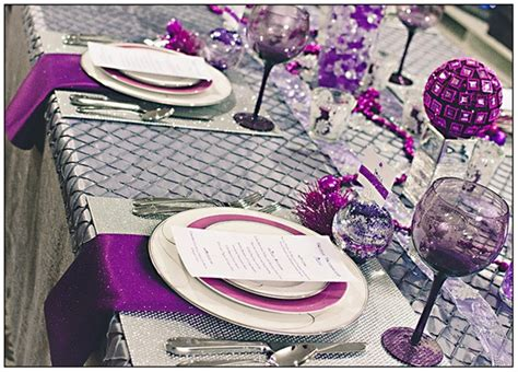 silver and purple christmas table decorations colorful christmas tabletop decor ideas white red purple and teal dining and entertaining