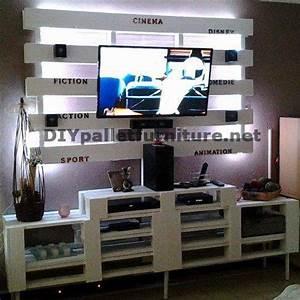 Faire Des Meubles Avec Des Palettes : meuble tv int gr avec des palettesmeuble en palette meuble en palette ~ Preciouscoupons.com Idées de Décoration