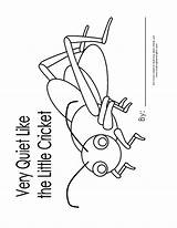 Coloring Pages Cricket Quiet Very Printables Activities Put Together Pdf Prints Coloringhome Results Popular sketch template