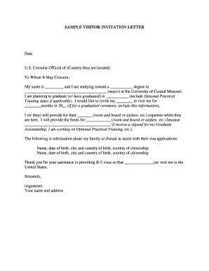 Fillable board invitation letter to serve on board - Edit