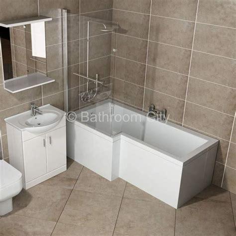 L Shaped Whirlpool Shower Bath (left Handed) Buy Online At