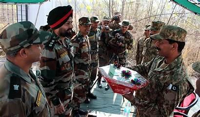 Indian Flag Meeting Army Pakistan India Pakistani