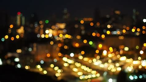 focus background  blurry city  night