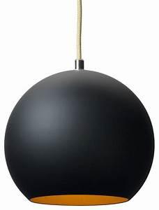 Tradition topan pendant vp black gold modern