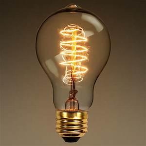 Antique light bulb standard shape watt a
