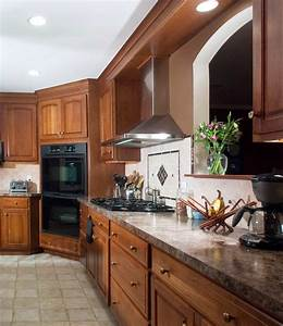 Traditional Stained Cherry Kitchen Morris Black Designs