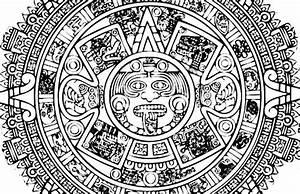 Ausmalbilder Malvorlagen: Images Aztec calendar coloring pages