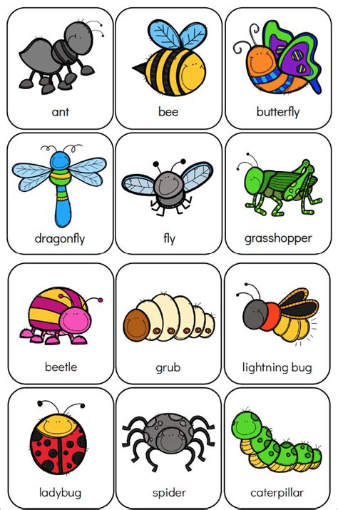 printable preschool bug activities for learning amp 970 | bug memory game for kids image