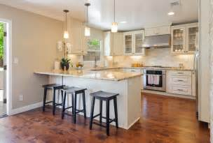 breakfast bar ideas for small kitchens traditional kitchen with u shaped undermount sink in