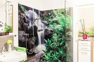 Fotos An Wand Kleben : duschr ckwand ohne fliesen kreative motive f r ihre dusche ~ Lizthompson.info Haus und Dekorationen