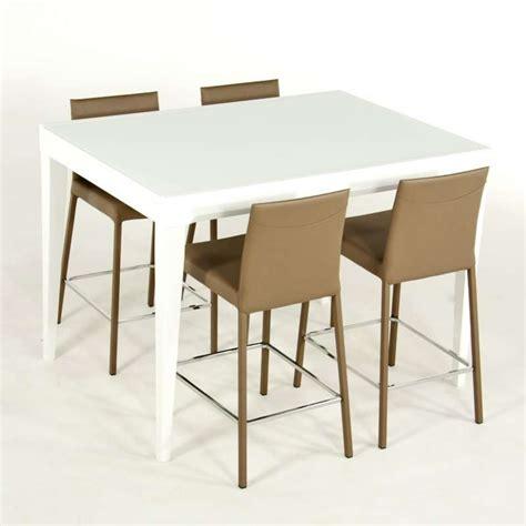 hauteur table haute cuisine table en verre extensible hauteur 90 cm coloris blanc