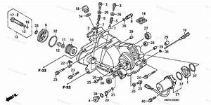 Honda Atv 2004 Oem Parts Diagram For Front Crankcase Cover