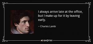 Charles Lamb qu... Office Leaves Quotes