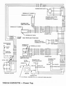 1960 Corvette Power Top Diagrams