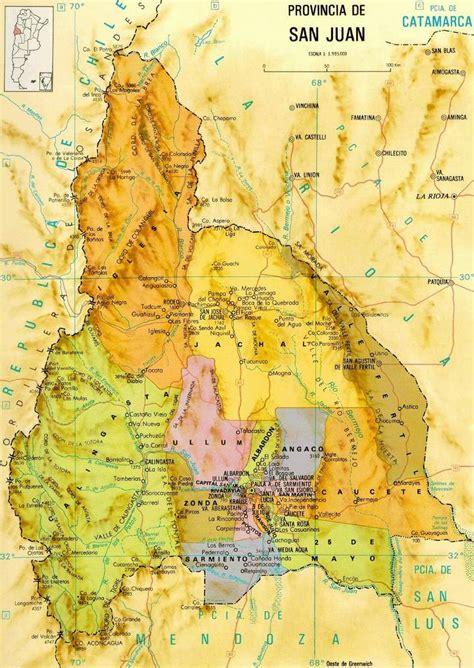 San Juan Province Map, Argentina