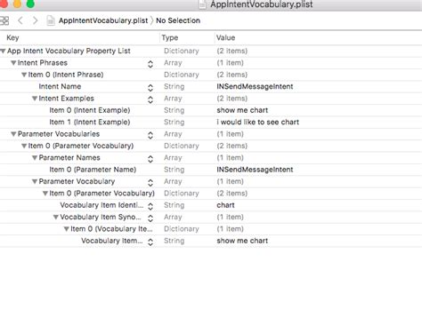 Xcode  How Do I Create And Use Custom Vocabulary With Sirikit?  Stack Overflow