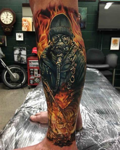 flaming man tattoo realistic  tattoo ideas gallery