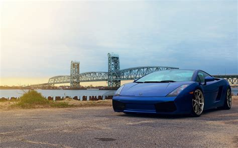 Blue Lamborghini Gallardo 4k Uhd Wallpapers For Laptop