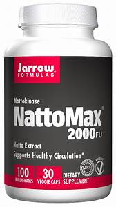 Nattomax Nattokinase 2000 Fu 100 Mg 30 Vegetarian Caps By Jarrow Formulas
