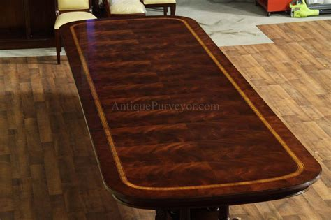 Large And Wide Mahogany Dining Table Seats 14 16 People Ebay