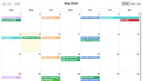 simple calendar fullcalendar google calendar pro grid view