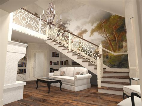 Modern Staircase In Living Room