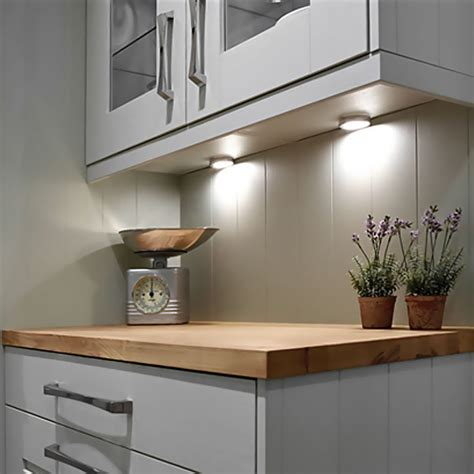 led kitchen  cabinet puck lighting   halogen