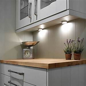 Led Kitchen Under Cabinet Puck Lighting 5000k 25w Halogen