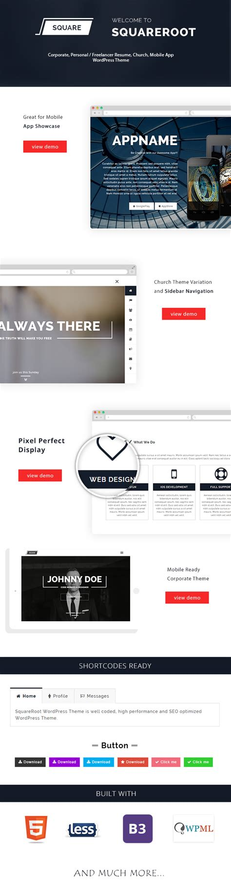 squareroot one page personal cv resume theme miscellaneous