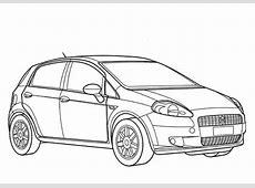 Ausmalbild Fiat Grande Punto 3d Ausmalbilder kostenlos