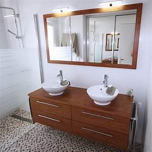 Meuble Salle De Bain 150 : meubles de salle de bain en bois massif atlantic bain ~ Teatrodelosmanantiales.com Idées de Décoration