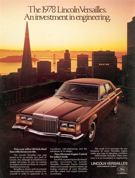 Lincoln Versailles 1978 Ad