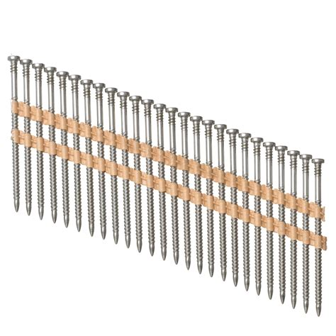 Lowes Canada Deck Screws by Shop Pneuscrew 1 000 Count 9 X 3 In Flat Stainless