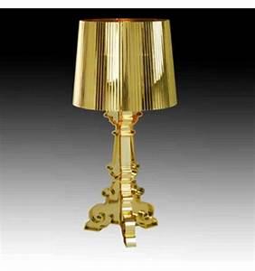 Lampe de chevet baroque dorée (2xE14) Cello