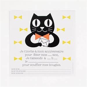 Papeterie Cartons d'invitation chat Anniversaire enfant My Little Day
