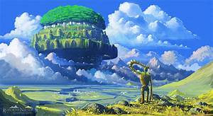 """The Castle in the Sky by """"Syntetyc in Fantasy landscape ..."""