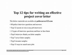 top 12 tips for writing an effective project cover letter With tips for writing cover letters effectively