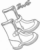 Boots Winter Coloring Pages Cool Snow Votos Getcoloringpages sketch template