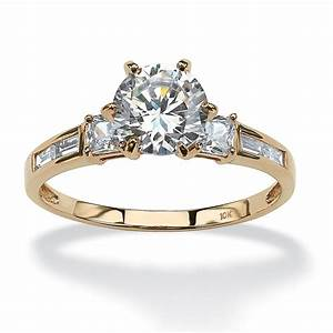 10k and 14k yellow gold gold and gold fashion engagement With palm beach wedding rings