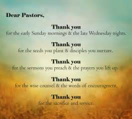 Pastor Appreciation Thank You Quotes