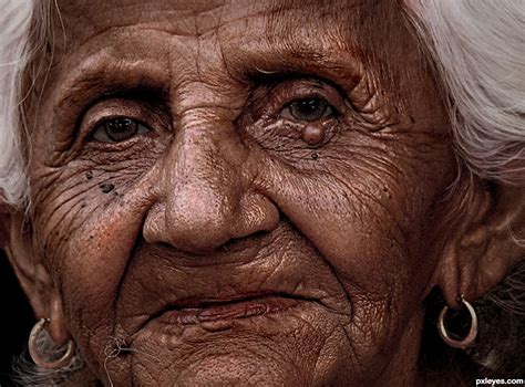 Old Lady Face Picture, By Mossyb For: Dragan Effect