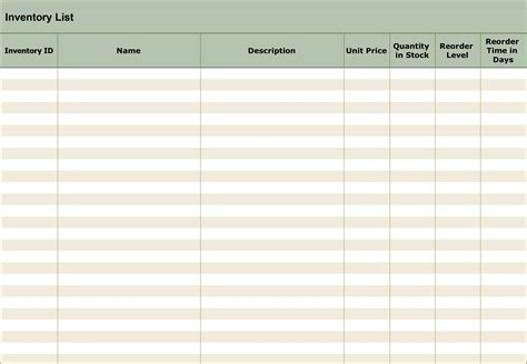 stock inventory  checklist templates  sme