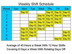 download 12 hour schedules for 6 days a week 2 free trial With 10 hour shift templates