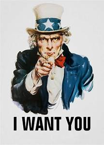 Uncle Sam I want you Art Print poster (17x13inch) Decor 03