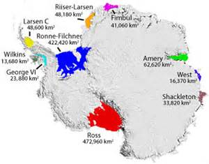 Antarctica Ice Shelf Map